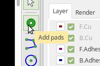 The Add Pad button