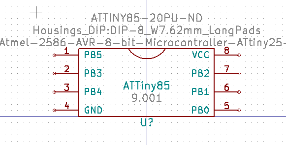 A completed symbol for the ATTiny85